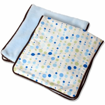 Caden Lane 2 Piece Burp Set in Blue Dot Line