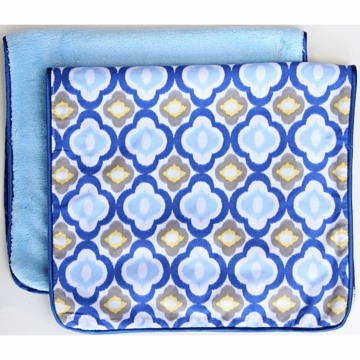 Caden Lane 2 Piece Burp Set in Blue Mod
