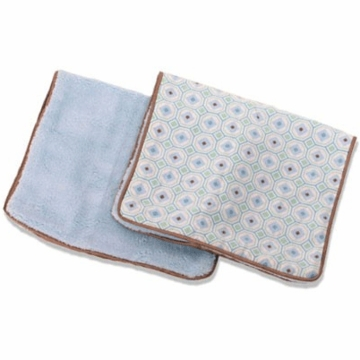 Caden Lane 2 Piece Burp Set in Blue Octagon