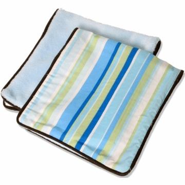 Caden Lane 2 Piece Burp Set in Blue Stripe