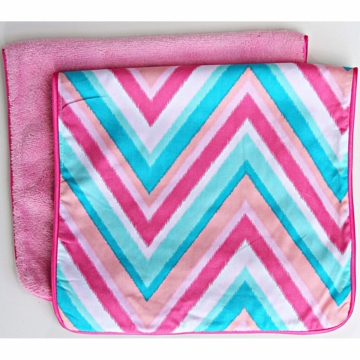 Caden Lane 2 Piece Burp Set in Pink Chevron