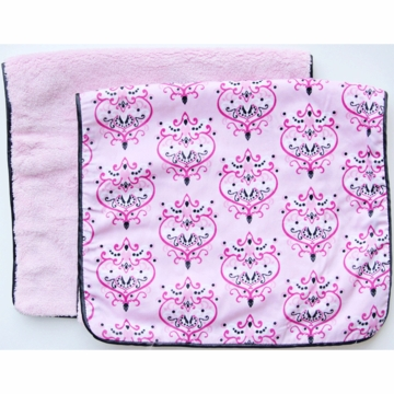 Caden Lane 2 Piece Burp Set in Pink Damask