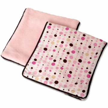 Caden Lane 2 Piece Burp Set in Pink Dot Line