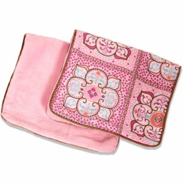 Caden Lane 2 Piece Burp Set in Pink Large Morrocan