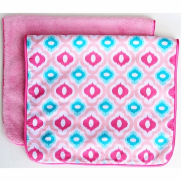 Caden Lane 2 Piece Burp Set in Pink Mod