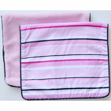 Caden Lane 2 Piece Burp Set in Pink Pinstripe
