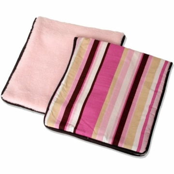 Caden Lane 2 Piece Burp Set in Pink Stripe