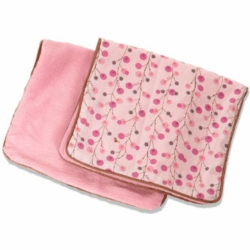 Caden Lane 2 Piece Burp Set in Pink Twiggy