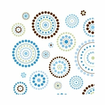 Caden Lane Changing Pad Cover in Blue Circle Dot