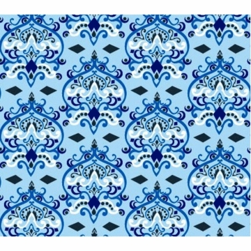 Caden Lane Changing Pad Cover in Blue Damask