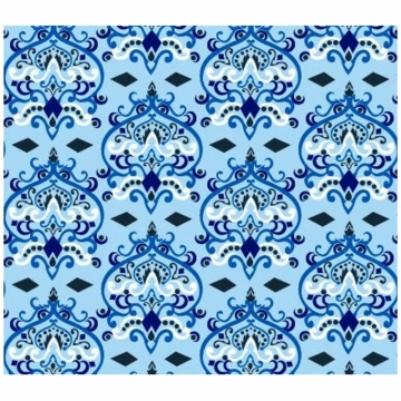 Caden Lane Sheet in Blue Damask