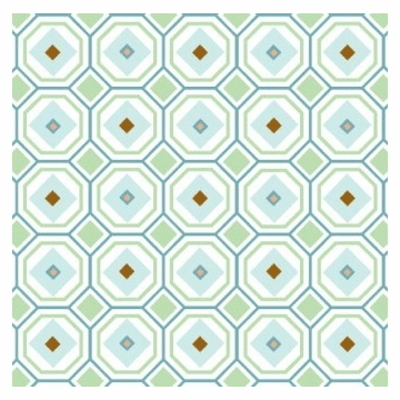 Caden Lane Changing Pad Cover in Blue Octagon