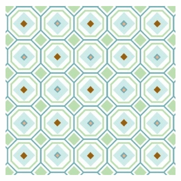 Caden Lane Sheet in Blue Octagon