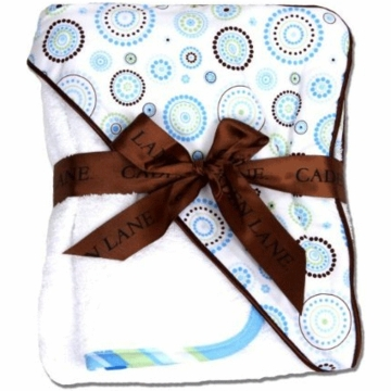 Caden Lane Hooded Towel Set in Blue Circle Dot