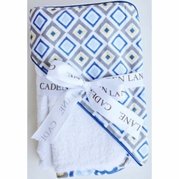 Caden Lane Hooded Towel Set in Blue Diamond