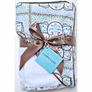 Caden Lane Hooded Towel Set in Blue Large Morrocan