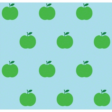 Wall Candy Blue & Green Apple Peel-and-Stick Wallpaper - Half Kit