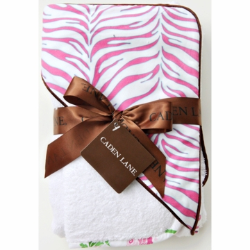 Caden Lane Hooded Towel Set in Zebra