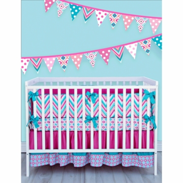 Caden Lane Lila 3 Piece Crib Bedding Set