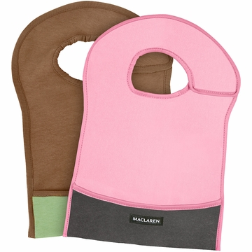 Maclaren Eco Bib Set - Pink/Graphite & Walnut/Marsh Green