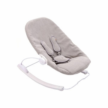 Bloom Coco Go Baby 3 in 1 Lounger with Beach House White Frame in Frost Grey