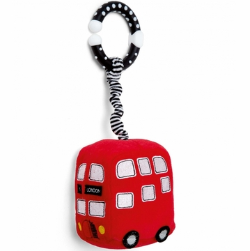 Mamas & Papas Plush Stroller Toy - Mini Red Bus