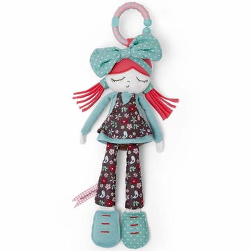 Mamas & Papas Plush Stroller Toy - Bow Rag Doll