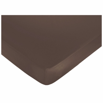 Sweet JoJo Designs Designer Dot Crib Sheet in Chocolate Brown