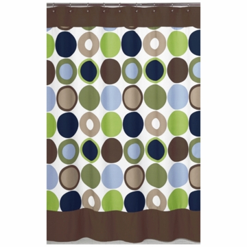 Sweet JoJo Designs Designer Dot Shower Curtain