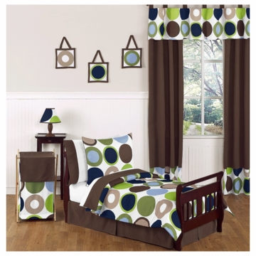 Sweet JoJo Designs Designer Dot 5 Toddler Bedding Set