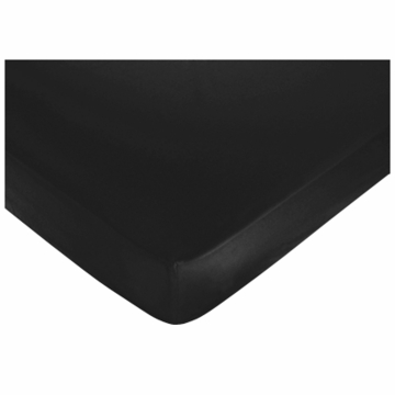 Sweet JoJo Designs Diamond Black Crib Sheet in Black