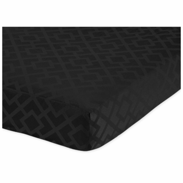 Sweet JoJo Designs Diamond Black Crib Sheet in Diamond Print