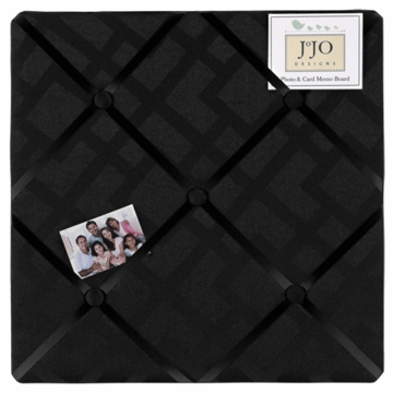 Sweet JoJo Designs Diamond Black Fabric Memo Board