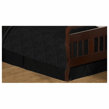 Sweet JoJo Designs Diamond Black Toddler Bed Skirt