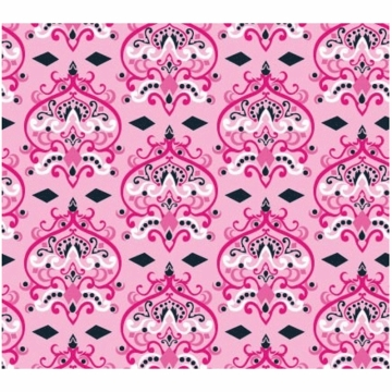 Caden Lane Changing Pad Cover in Pink Damask