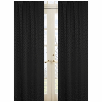 Sweet JoJo Designs Diamond Black Window Panels