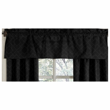 Sweet JoJo Designs Diamond Black Window Valance
