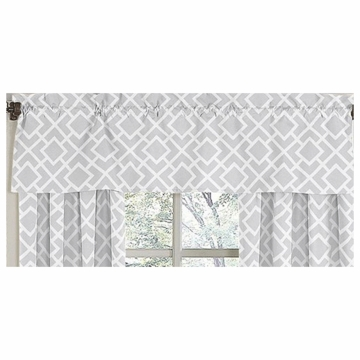 Sweet JoJo Designs Diamond Gray & White Window Valance
