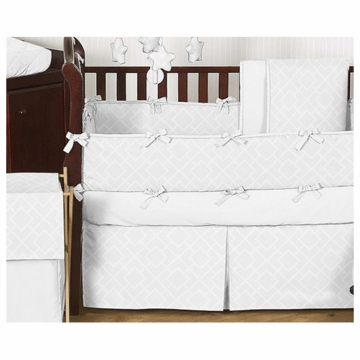 Sweet JoJo Designs Diamond White 9 Piece Crib Bedding Set