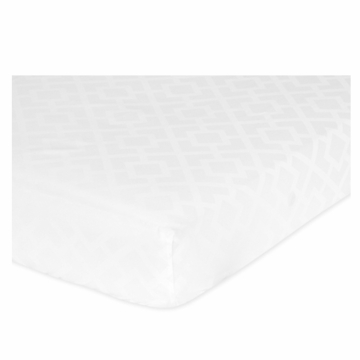 Sweet JoJo Designs Diamond White Crib Sheet in Diamond Print