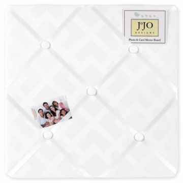 Sweet JoJo Designs Diamond White Fabric Memo Board