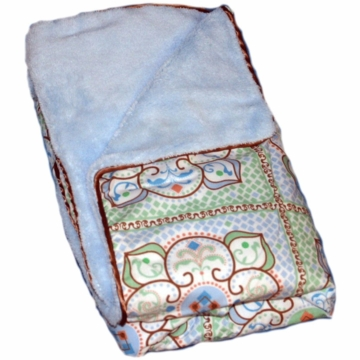 Caden Lane Piped Blanket in Blue Large Morrocan