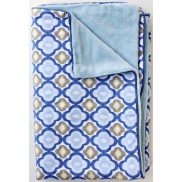 Caden Lane Piped Blanket in Blue Mod