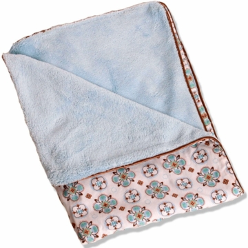 Caden Lane Piped Blanket in Blue Small Morrocan