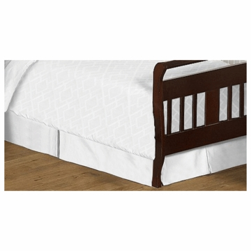 Sweet JoJo Designs Diamond White Toddler Bed Skirt