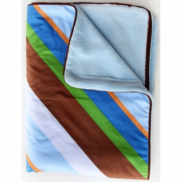 Caden Lane Piped Blanket in Diagonal Stripe
