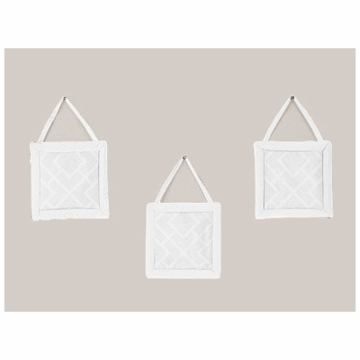 Sweet JoJo Designs Diamond White Wall Hangings