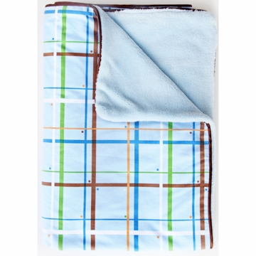 Caden Lane Piped Blanket in Plaid