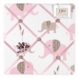 Sweet JoJo Designs Elephant Pink Fabric Memo Board