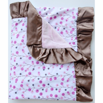 Caden Lane Ruffle Blanket in Pink Twiggy